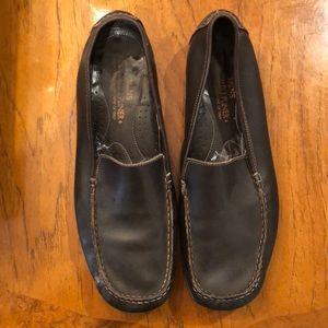 Donald J Pliner brown leather loafers